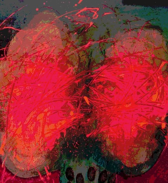 Rot, Anziehung, Feurig, Temperament, Mischtechnik