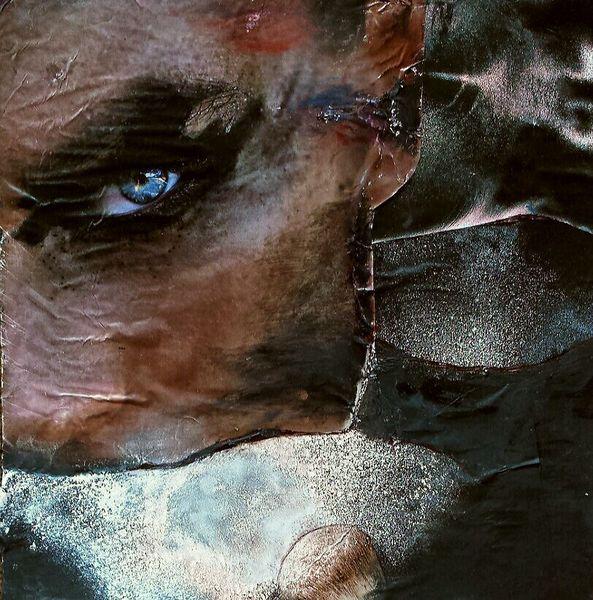 Frau, Collage, Durchdringender blick, Perlmutt, Abstrakt, Dramatisch