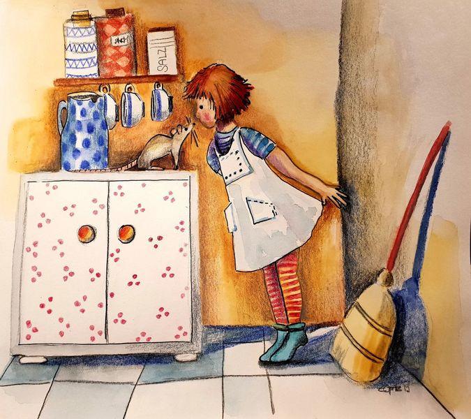 Begegnung, Bilderbuch, Ratte, Illustrationen