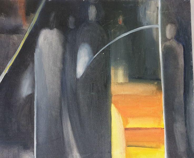 Licht, Dunkel, Suche, Malerei