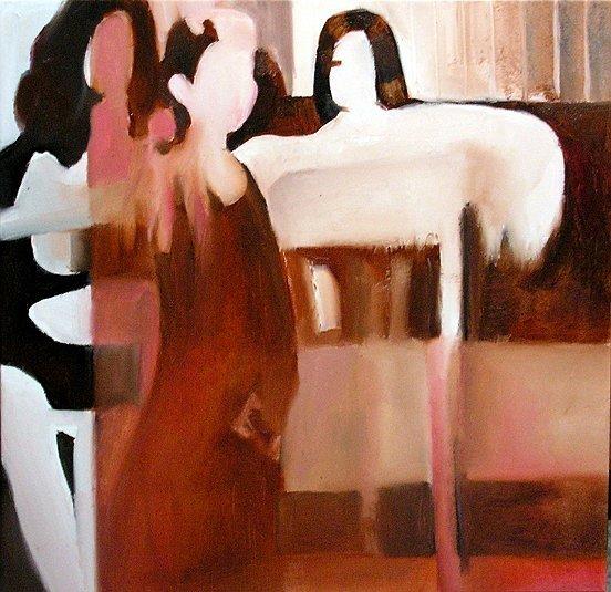 Tanz, Frau, Bühne, Malerei