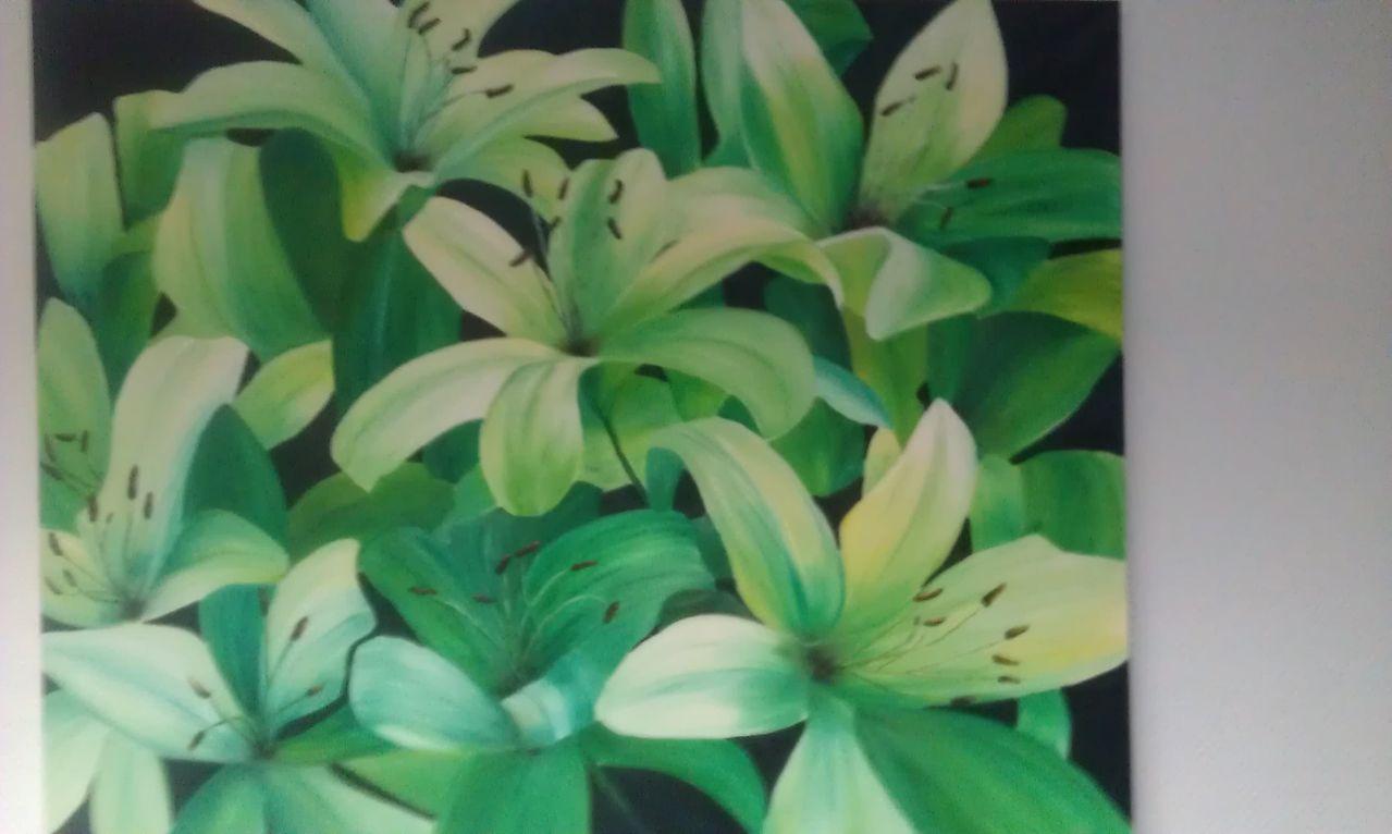 bild malerei pflanzen lilien von kamalusa bei kunstnet. Black Bedroom Furniture Sets. Home Design Ideas