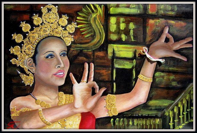 Portrait, Frau, Thai, Anmut, Tanz, Kultur