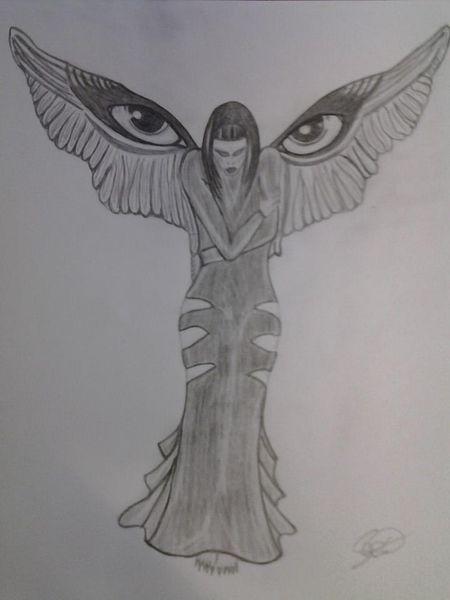 Augen, Elfen engel, Zeichnungen, Beobachtung