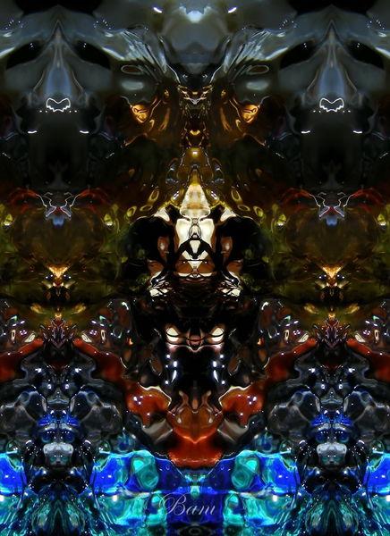 Spiegelung, Wasser, Elemente, Makro, Experimentell, Fantasie