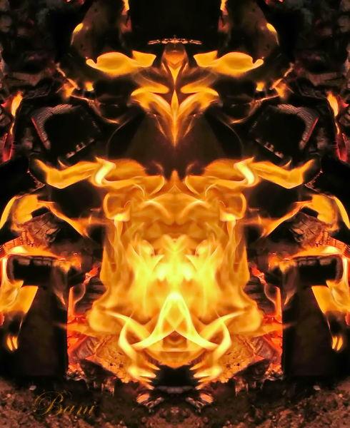 Feuer, Stimmung, Fantasie, Mystik, Spiegelung, Flammengemälde