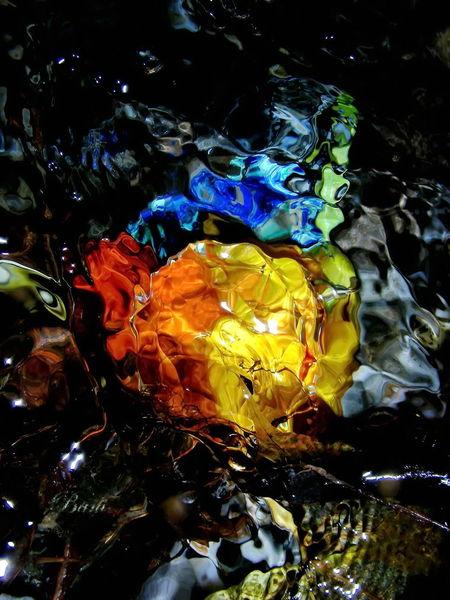 Fantasie, Wasser, Installation, Quelle, Wassermalerei, Farben