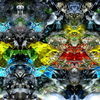 Farben, Spiegelung, Fantasie, Makro