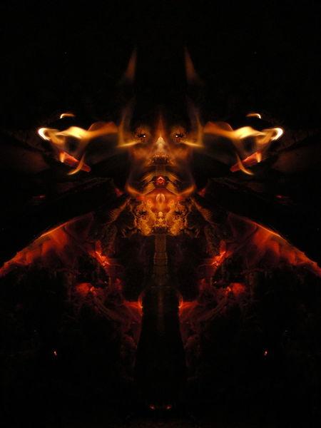 Elemente, Flammen, Feuer, Reflexion, Glut, Experimentell