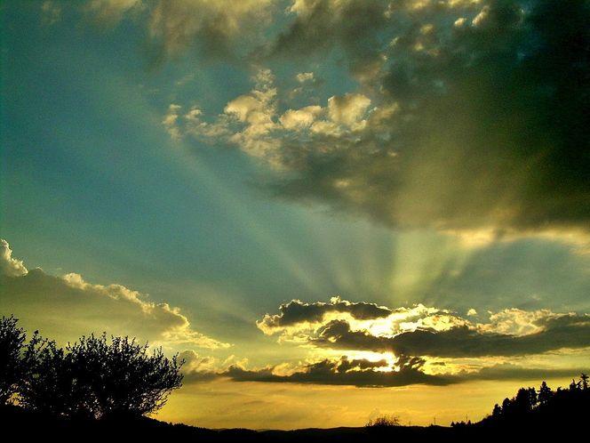 Dimension, Abend, Sonnenuntergang, Untergang, Wolken, Dämmerung