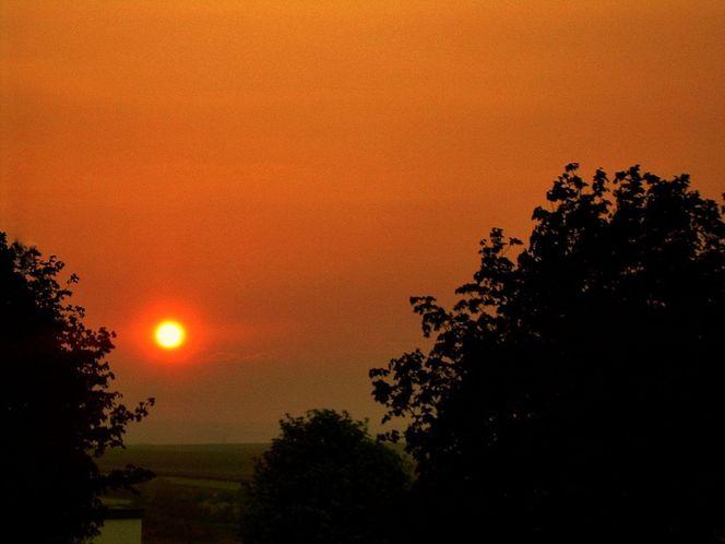 Dimension, Abend, Orange, Sonne, Sonnenuntergang, Schwarz