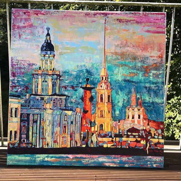 Landschaft, Modern, Acrylmalerei, Abstrakt, Malerei, Farben