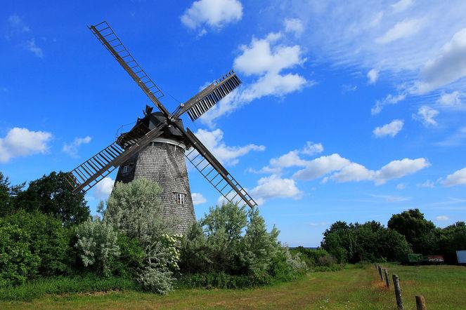 Mühle, Windmühle, Landschaft, Fotografie, Benz, Usedom