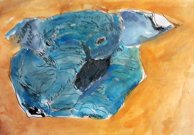 Elefant, Tierwelt, Aquarellmalerei, Pop art, Aquarell