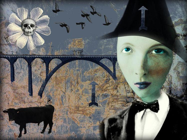 Himmel, Portrait, Nouveau, Expressionismus, Digitale kunst