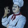 Kochen, Lecker, Küchenchef, Malerei