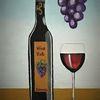 Trauben, Flasche, Wein, Vino