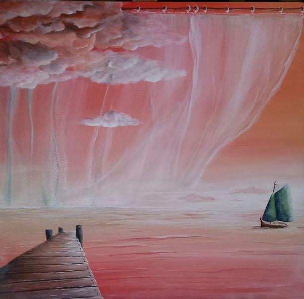 Boot, Himmel, Schiff, Vorhang, Steg, Heimkehr