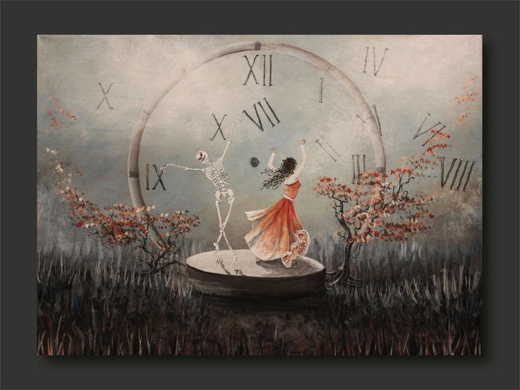 Tod, Baum, Ziffer, Frau, Wolken, Natur