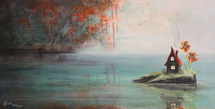 See, Herbst, Heim, Gewässer, Baum, Allein