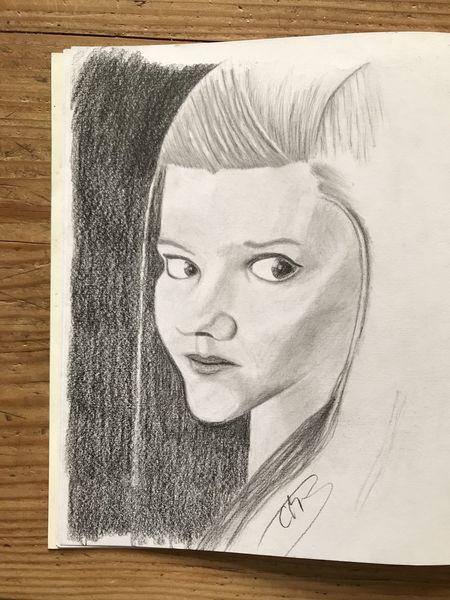 Bleistiftzeichnung, Frau, Mädchen, Portrait, Zeichnungen