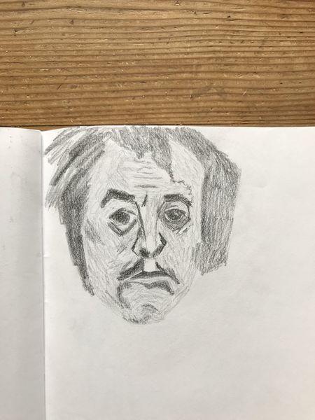 Menschen, Mann, Portrait, Kopf, Holzschnitt, Zeichnungen