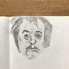Portrait, Mann, Kopf, Holzschnitt
