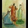 Glas, Glasflaschen, Bunt, Flasche
