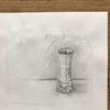 Glasvase, Wasser, Vase, Bleistiftzeichnung