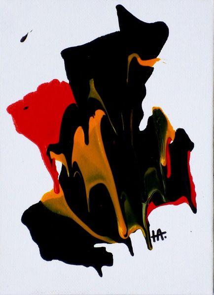 Edelstein, Gelb, Farben rot, Grün, Malerei