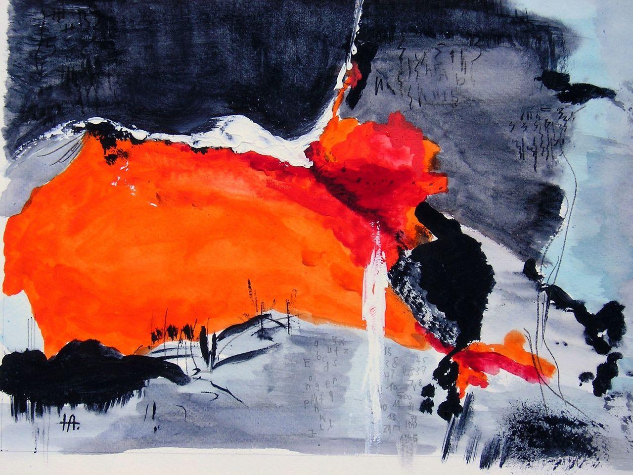 Abstrakte Aquarell Malerei Bilder Und Ideen Auf Kunstnet
