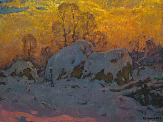 Malerei, Landschaften, Winter