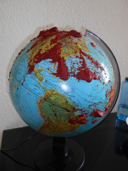 Blut, Erde, Globus, Weltweit, Welt, Globalisierung