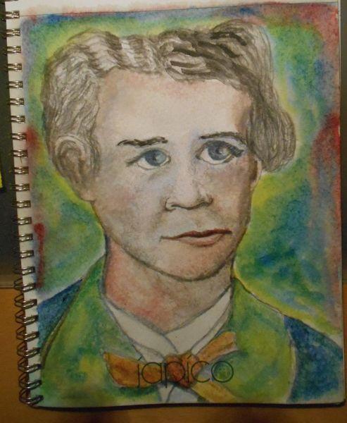 Portrait, Der zweite, Aquarellmalerei, König, Bayer, Aquarell