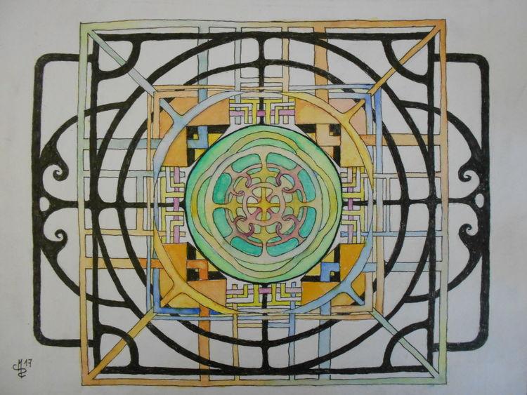 Mandala, Verflechtung, Zeichnungen,
