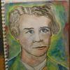 Bayer, Portrait, Der zweite, Aquarellmalerei