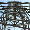 Strommast - Himmel, Metall, Stahl, Strommast, Symmetrie, Konstruktion,