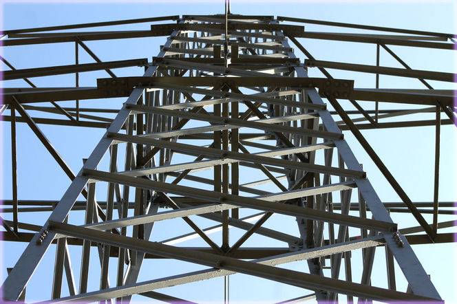 Metall, Stahl, Symmetrie, Strommast, Konstruktion, Himmel