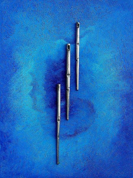 Kathedrale, Blau, Malerei,