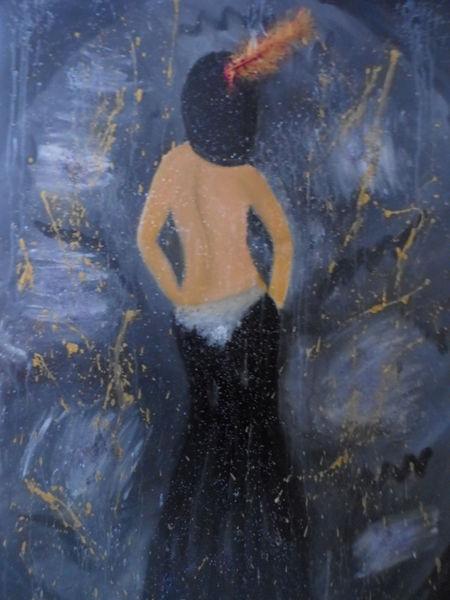 Fantasie, Dame, Ölmalerei, Frau, Malerei, Gemälde