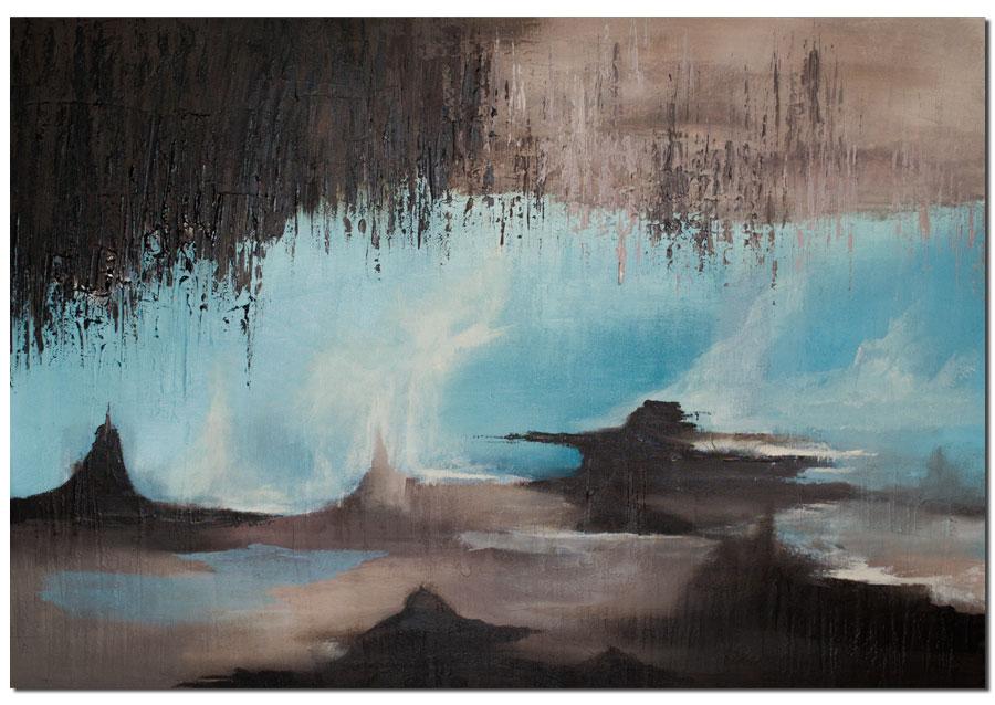 Bild: Höhle, Abstrakt, Modern, Beige von Antoniya Slavova bei KunstNet
