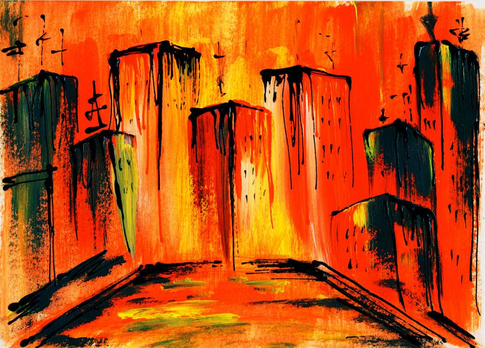 Abstraktion kunstdruck abstrakt malerei von kunstlab bei kunstnet - Leinwand malerei ...