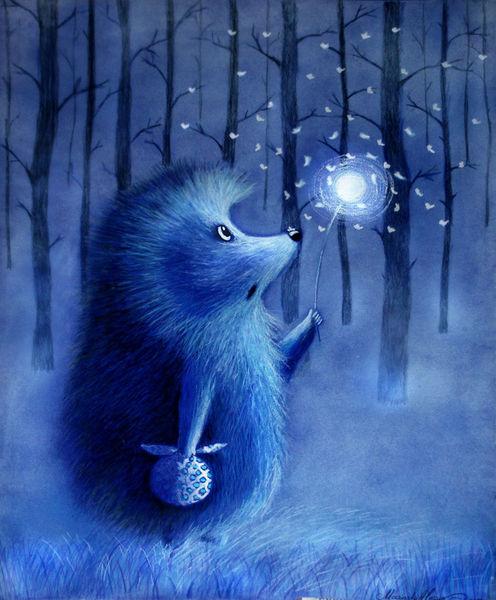 Baum, Blau, Pusteblumen, Nebel, Löwenzahn, Märchen