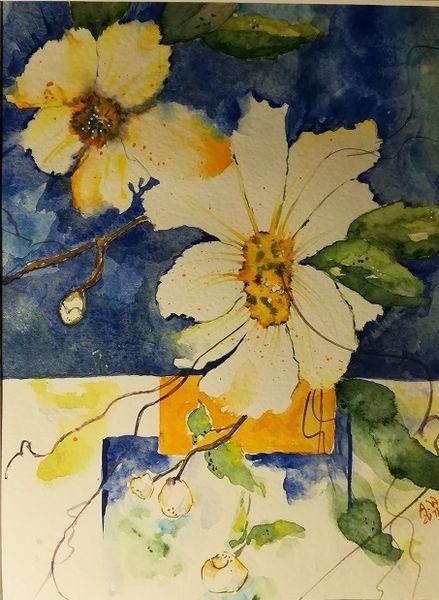 Aquarellmalerei, Blumen, Natur, Blüte, Malerei