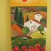 Toskana, Abendrot, Mohn, Malerei