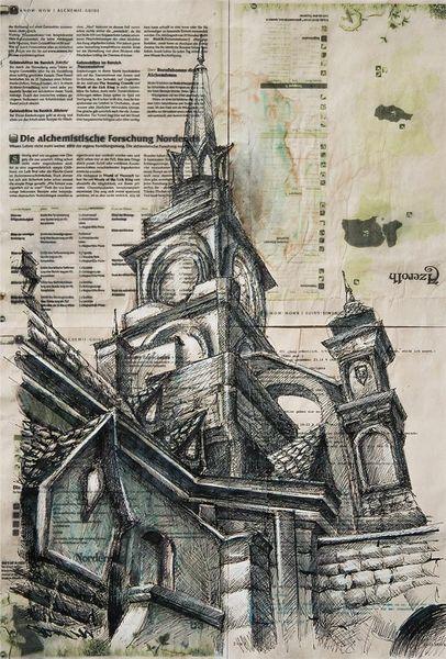 Architektur, Illustrationen, Architektur mensch