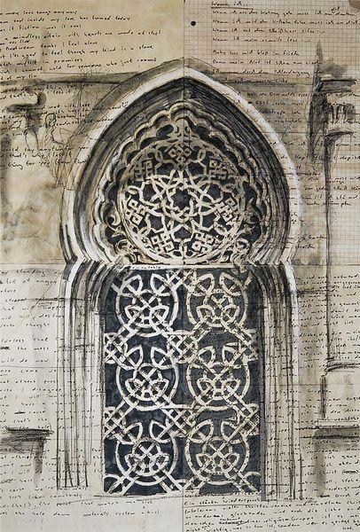 Architektur, Illustrationen, Architektur mensch, Tür, Istanbul