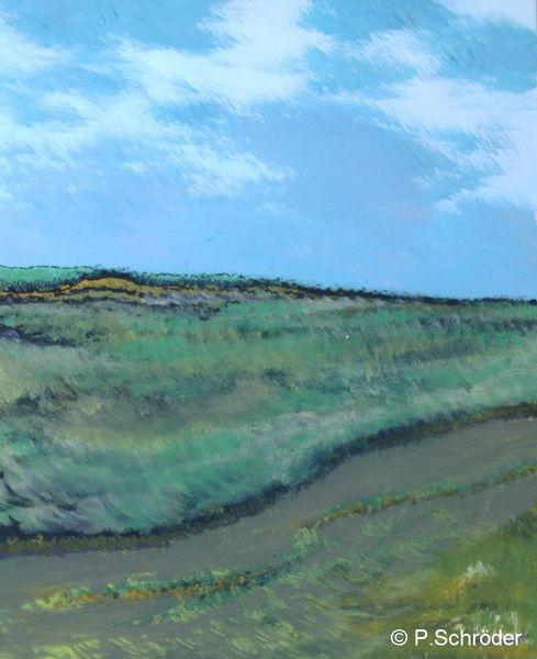 Ufer, Gezeiten, Himmel, Malerei