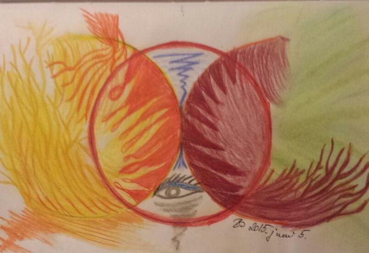 Augen, Seele, Fantasie, Licht, Gefühl, Zeichnung