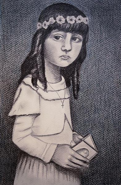 Mädchen, Kommunion, Tristesse, Zeichnungen